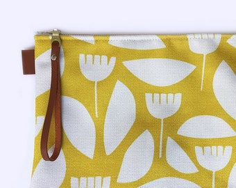 Zipper pouch, clutch, Ipad and tablet carry case, diaper and wipes pouch, canvas zipper bag, tablet cover, diaper holder, make up nappy bag