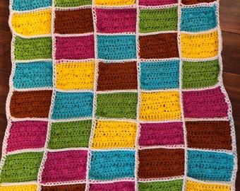 Lego blanket, block blanket, lego block throw, lego afghan, gift, room decor