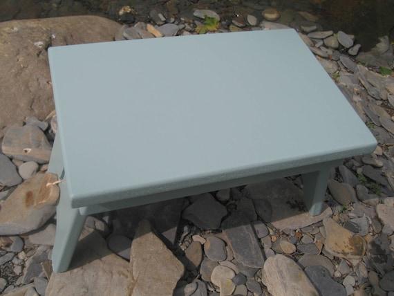 Calm Coastal blue/grey colour shaker style wooden stool