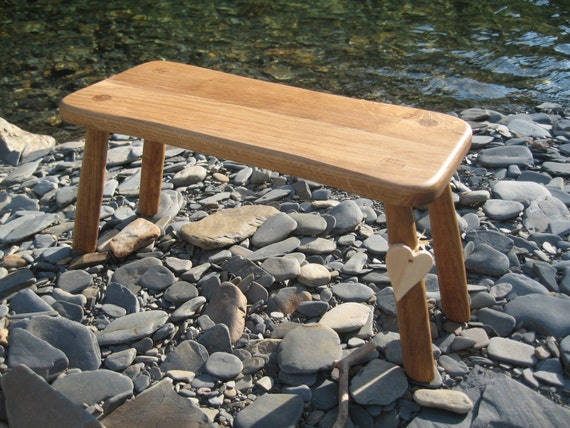 Solid Welsh Oak Wooden Country Stool