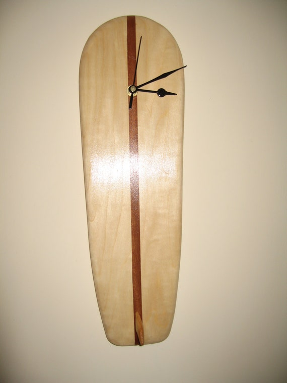 Retro Style longboard wooden surfboard clock