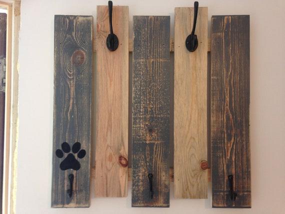 Rustic Pallet Wood Dog Lead and Coat Rack