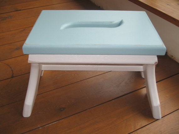 Chunky style shabby chic shaker style wooden step stool