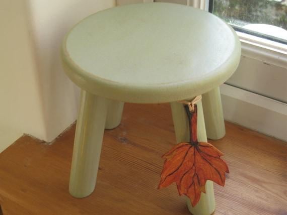 Shabby chic wooden milking stool