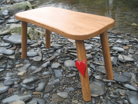 Solid Welsh Oak Country Stool.