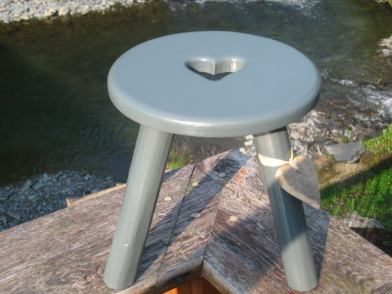 Hand made wooden milking stool