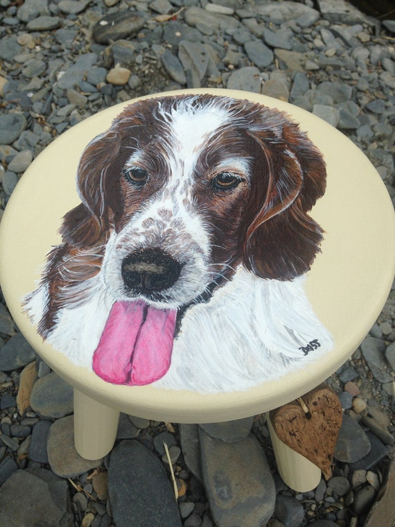 Pet Portraits on stools...Customer Orders Only.