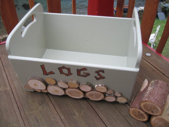 Personalised Wooden Log Box