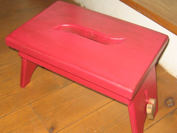 Shaker style wooden stool