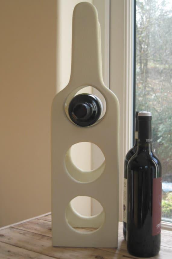 Wooden Wine rack in Farrow & Ball house white