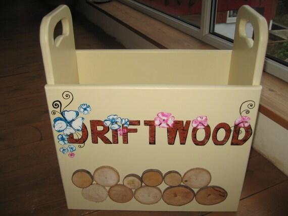 Hand made wooden log storage/baskets
