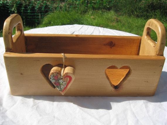 Reclaimed Pallet Wood Heart Storage Box
