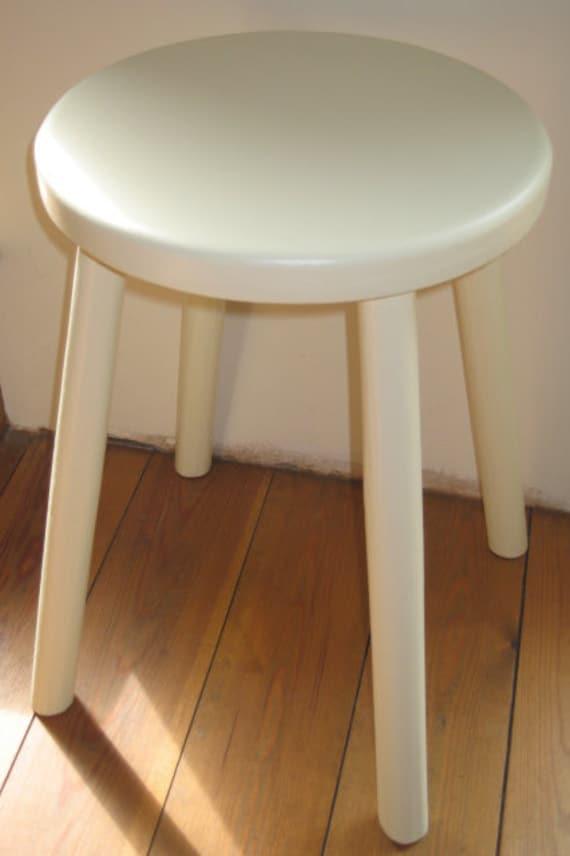 Taller milking style wooden stool