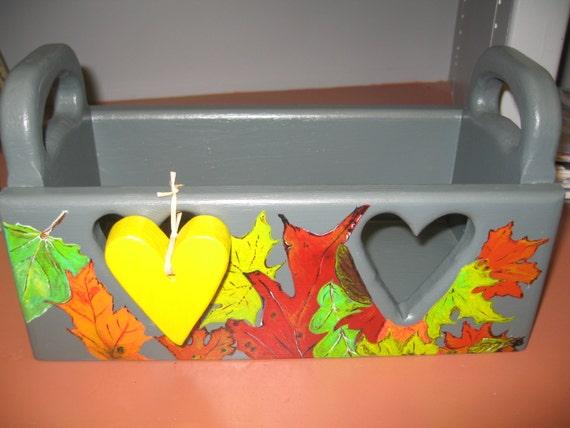 Wooden heart gift/storage box