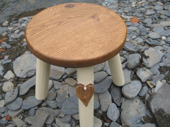 Oak Topped Wooden Milking Stool