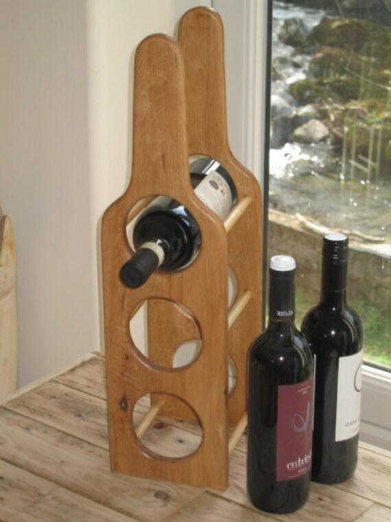 Solid Oak Wooden Wine Rack