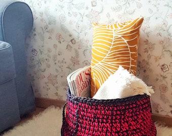 Large crochet basket Laundry basket Toys storage Big basket