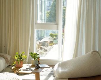 White knitted adult bean bag chair / Wool chair / Floor pillow