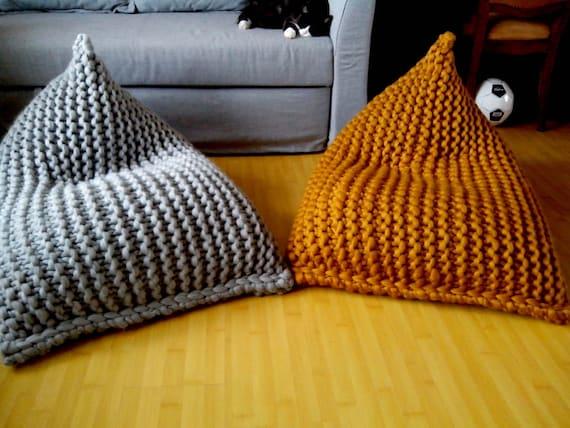 Fine Chunky Wool Knit Grey Mustard Kids Bean Bag Bean Bag Chair Nursery Chair Floor Pillow Ncnpc Chair Design For Home Ncnpcorg