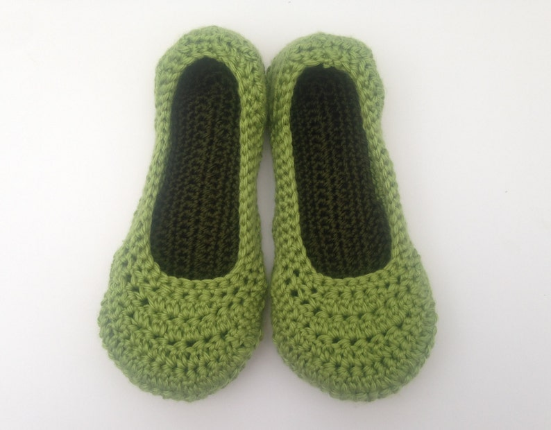 8a92c8b7c1041 womens spring green crochet slippers. Ladies slippers. House Shoes. Mothers  Day Gift. Easter Gift for her.