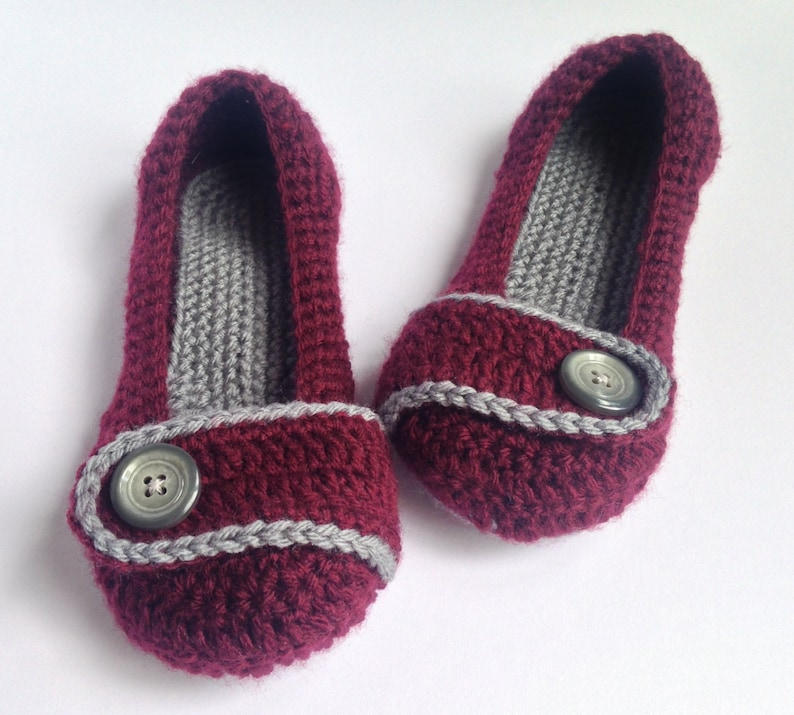 61a19c7da01e9 womens Marsala crochet slippers.Mothers Day Gift. House shoes.