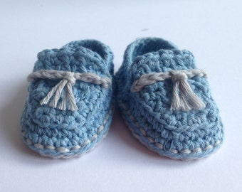 Crochet Baby Booties. Cotton loafers. Baby shoes . baby shower gift.