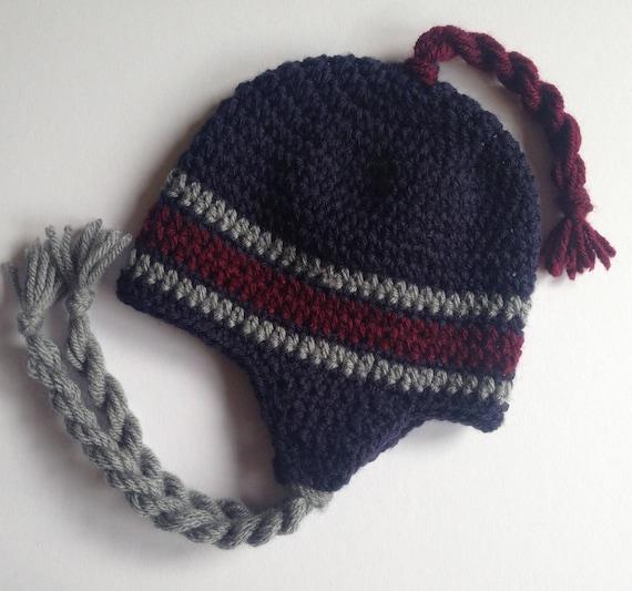 Mens trapper hat. Mens winter hat. Mens blue ear flap hat.  ae795d474e8