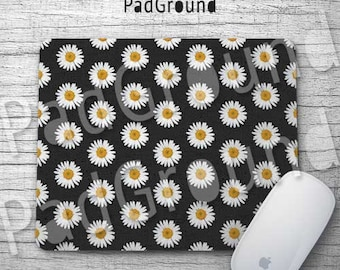 Flower Mousepads, Floral Mouse Pad, Mouse Mat, Sunflower Pattern, Accessories, Office Decor, Desk Decor, Girls Gift, Christmas Gift - FP05