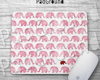 Elephant Mouse Pad, Elephants Pattern, Cute Mousepads, Mouse Mat, Office Decor, Accessories, Kids Gifts, Holiday Gifts, Birthday Gifts -EPRD