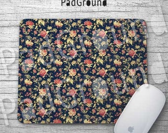 Flower Mousepads, Floral Mouse Pad, Vintage Mouse Mat, Office Decor, Desk Decor, Girls Gifts, Holiday Gifts, Unique Gift - FP01