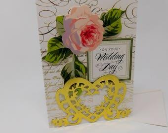 Wedding Card On Your Wedding Day Handmade