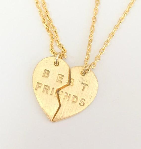 BEST FRIENDS BFF BEADED RABBIT BUNNY HEART 2 IN 1 PENDANT GIRLS NECKLACE GIFT