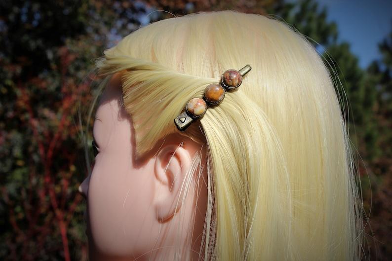 Autumn Hair Clips for Women Womans Barette Hair Accessories Marbled Stone Barrette for Thick Hair Caramel Alligator Clip for Fine Hair