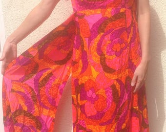 Waltah Clarke Hawaiian Dress with side Sashes