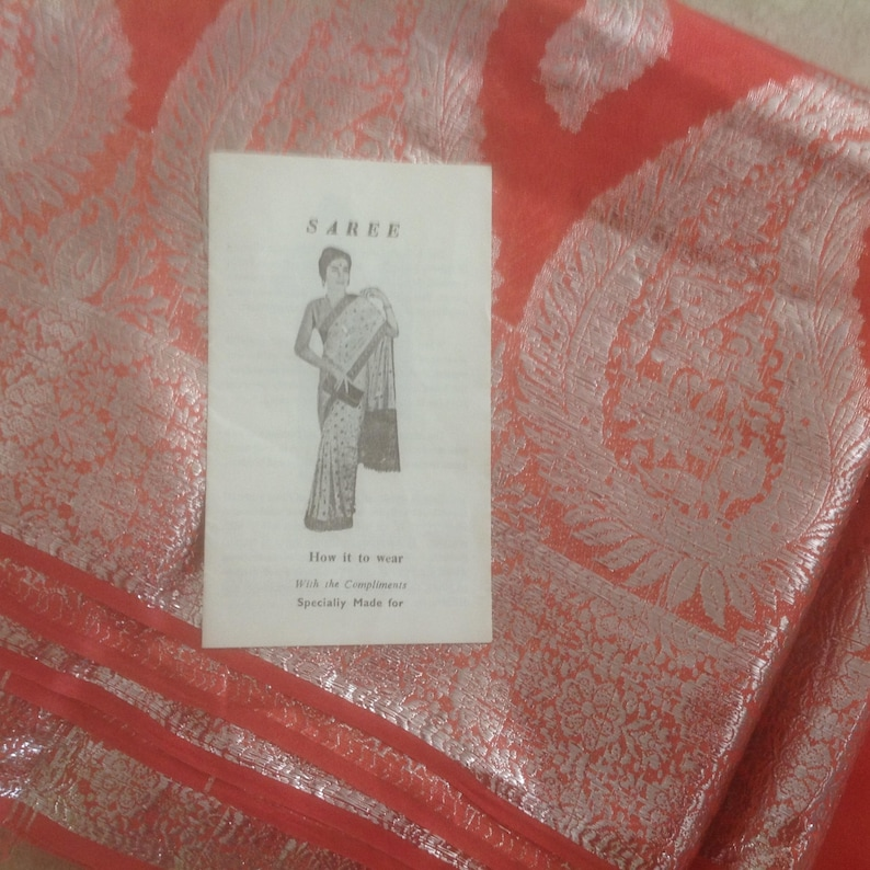 Sari, How it to Wear Pamphlet