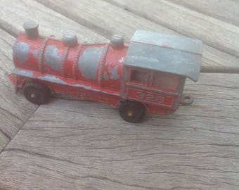 Metal Toy Train, #325, Vintage Red Paint