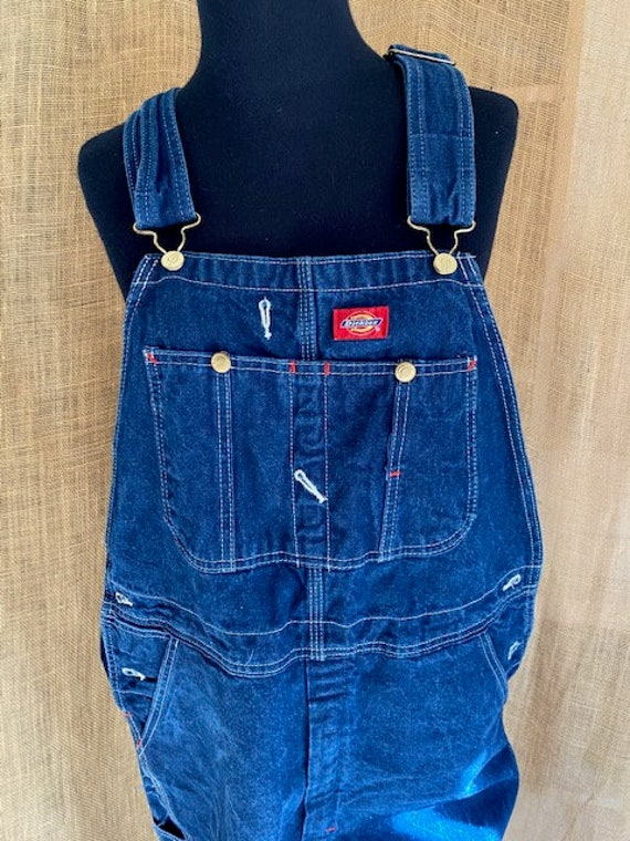 Dickies Dark Blue Overalls, size 34 x 30