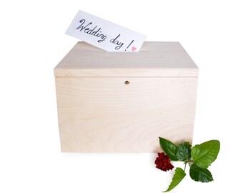 große Hochzeit Karten-Box mit Schlüssel Feld Spardose