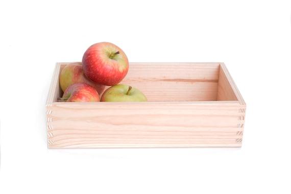 Contenitore rettangolare in legno legno grezzo scrivania etsy
