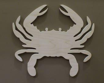 Wooden Crab Decor Etsy