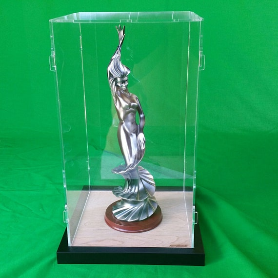"""14/""""x14/""""x28/"""" Acrylic Display Case Cabinet Organizer Box for Toy Figures//Statues"""