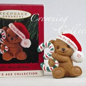 Vintage 1986 Hallmark Keepsake Ornament Child/'s 3rd Third Christmas Panda Bear