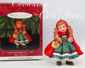 1997 Hallmark Little Red Riding Hood Madame Alexander Keepsake Ornament 3rd in Series Doll Christmas MIB #3