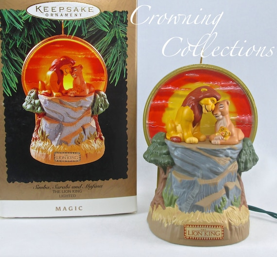 1997 HALLMARK TIMON AND PUMBAA OF THE LION KING DISNEY CHRISTMAS ORNAMENT NIB