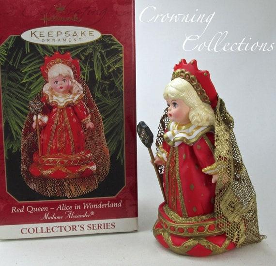 1999 Hallmark Madame Alexander Red Queen Ornament Alice in Wonderland 4th Series Vintage Christmas Queen of Hearts Doll