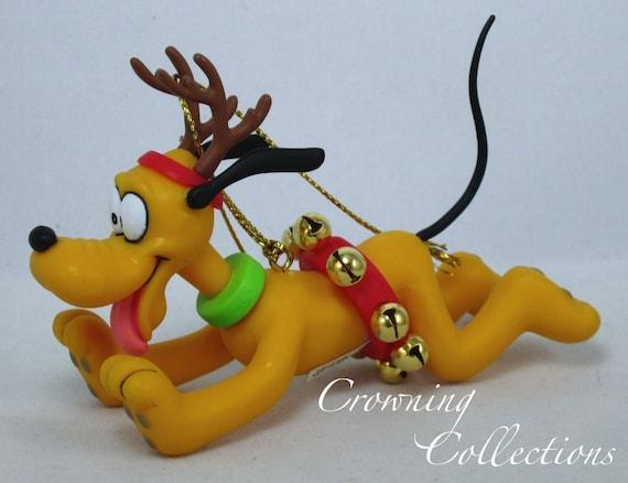 Disney Pluto Reindeer Grolier Ornament Porcelain Treasures NEW RARE