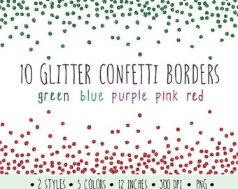 glitter confetti borders clip art glitter borders and frames metallic confetti clipart green turquoise pink and red digital glitter