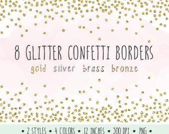 glitter confetti borders clip art gold glitter frames gold silver bronze christmas confetti glitter gold new years clip art