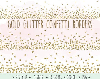 gold glitter confetti borders clip art glitter borders and frames mettalic confetti clipart for wedding invitations