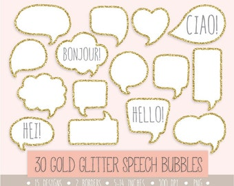 gold glitter speech bubble clipart gold glitter frames label and tags hand drawn thought bubbles white labels borders